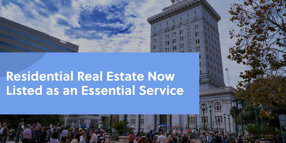Real Estate Essential Service Status