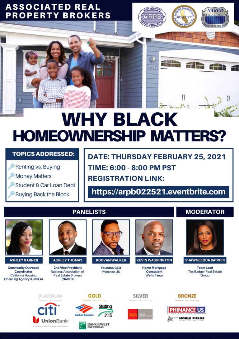 Why Black Homeownership Matters