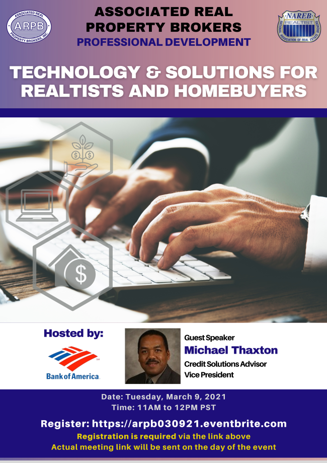 Professional Development Technology Solutions for Realtists & Homebuyers